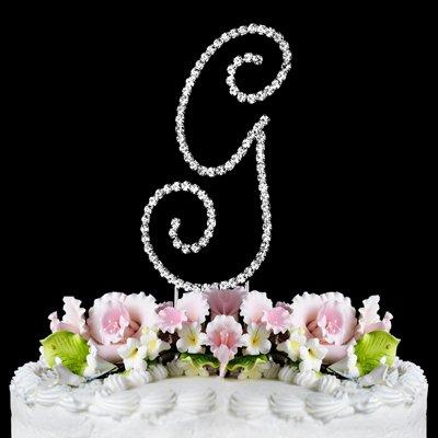 RENAISSANCE MONOGRAM WEDDING CAKE TOPPER LARGE LETTER G