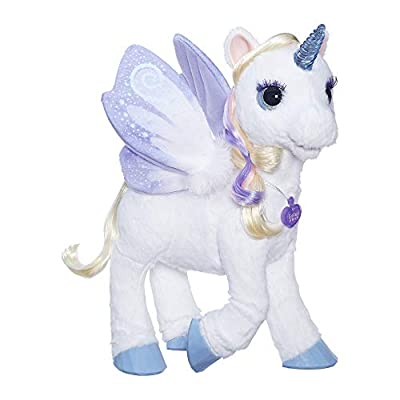 furReal StarLily, My Magical Unicorn Interactive Plush Pet Toy, Light-up Horn, Ages 4 and Up( Exclusive): Toys & Games