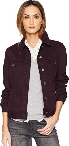 Liverpool Women's Classic Denim Jacket in Stretch Slub Twill Rich Velvet - Velvet Classic Jeans