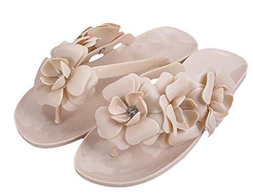 Dimensions de Danapp en Mode Flops Tongs Abricot littéraire Trois la Camellia 38 40 Flip Femmes Vert HwxrHqT