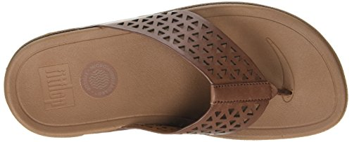 Flip Brown Dark 277 Tan Fitflop Leather Surfe Flop Women's Lattice xxBRIn