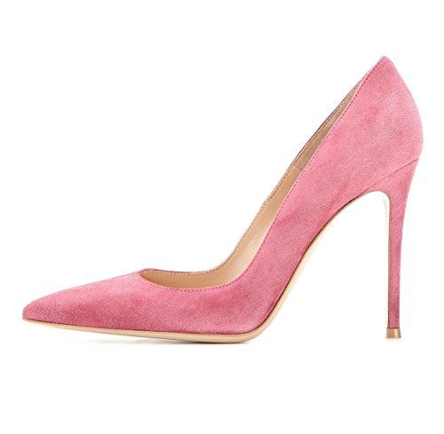 Suede col Rosa Elegante Scarpe da Stiletto Soireelady Donna Scarpe donna Tacco tacco Scarpe q7I0xP