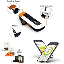 Dario All-in-one Smart Blood Glucose Meter kit, 25 Blood Test Strips 10 sterile lancets 10 Disposable Covers. Small, Sleek and Smart Diabetes Management.