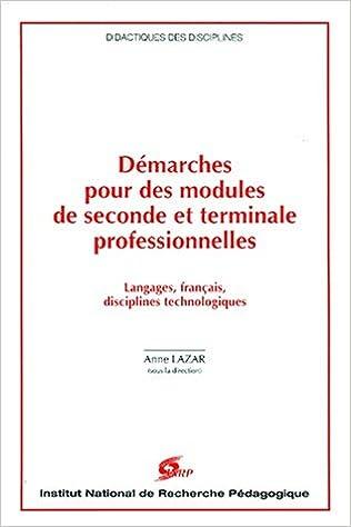 Lire un Démarches pour des modules de seconde et terminale professionnelles pdf ebook