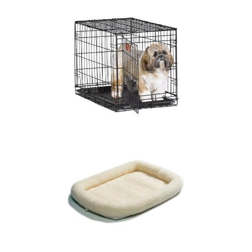 24-Inch Single Door iCrate with Fleece Bed