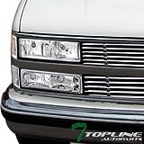 96 chevy 1500 headlight bulbs - Topline Autopart Chrome Clear Signal Bumper Lights Lamps DY 88-00 Chevy GMC C10 C/K 1500 2500 3500 Truck ; 92-99 C/K Suburban ; 95-99 Chevy Tahoe ; 92-99 GMC Yukon
