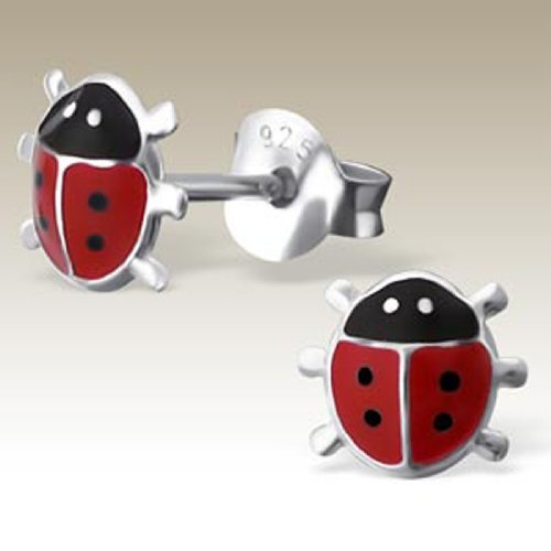 9de08a0e6 Image Unavailable. Image not available for. Color: Small Ladybug Earrings  ...