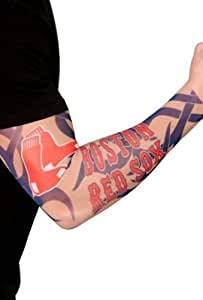Boston red sox official adult fake arm tattoo for Tattoo sleeves amazon