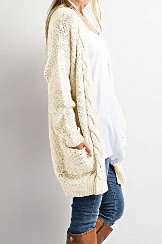 b83a41d505ed Inorin Womens Loose Open Front Long Sleeve Solid Color Knit ...