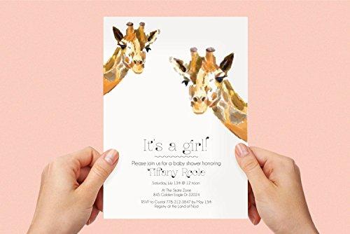 - Animal Birthday Party Invite, Woodland Party Invitation, Giraffe Invitation, Kids Birthday
