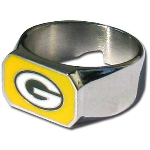 NFL Green Bay Packers Steel Bottle Opener, Ring Size 10