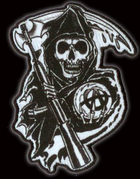 Fabelhaft Amazon.com: Sons Of Anarchy Reaper Patch: Toys & Games &UR_58