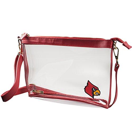 Clear Large Crossbody - University of Louisville Louisville Cardinals Clear Purse  (Capri Cardinal)