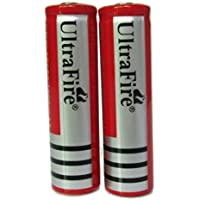 ON THE WAYÃ'ÂRechargeable RED 2Pcs 3.7V 4000mAh BRC18650 Protected li-ion Battery for Flashligh Torch Headlamp Rc toy by ON THEWAY