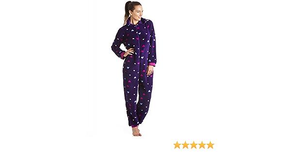 Camille Pijama de una Pieza Muy Suave Estampado Multicolor de Corazones