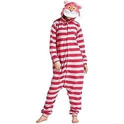 Yimidear Cosplay Ropa de Dormir, Unisex Adulto Pijamas Animales Disfraz Traje de Dormir Onesie (S, Gato de Cheshire)