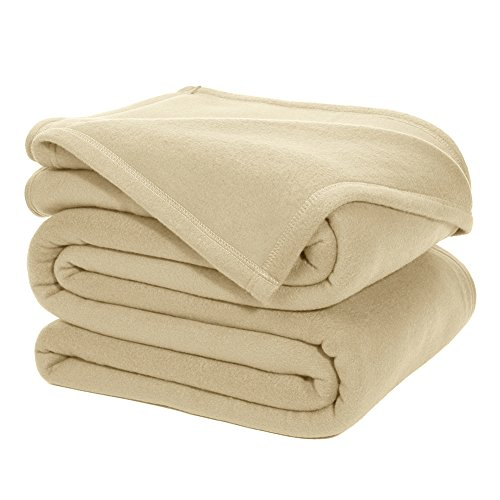 DOZZZ Queen Polar-Fleece Thermal Blanket BEIGE  - Extra Soft