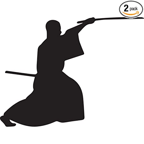 Amazon.com: Samurai Silhouette Warrior Ninja clipart 4 ...