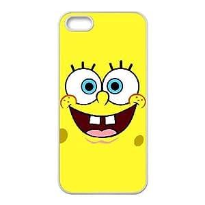 iPhone 5 5s Cell Phone Case White Sponge Bob wfsi