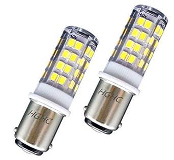 Ba15d LED Lámpara 5W AC 220V, SBC Bayoneta Bombilla Doble Contacto, Blanco Fresco 6000K