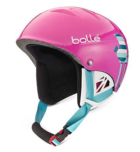 Bolle B-Kid Ski Helmet, Shiny Pink Birds, 49-53cm