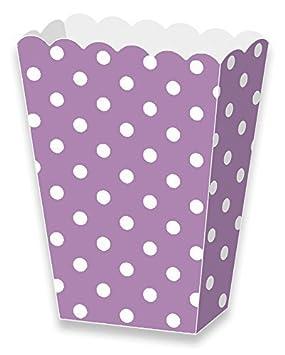 LolliZ® palomitas caja de papel lavanda/lunares. 12-pcs Pack: Amazon.es: Juguetes y juegos