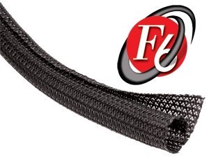 TechFlex Flexo F6 General Purpose 1/2-inch Braided Cable Sleeve, Black - 10 Feet