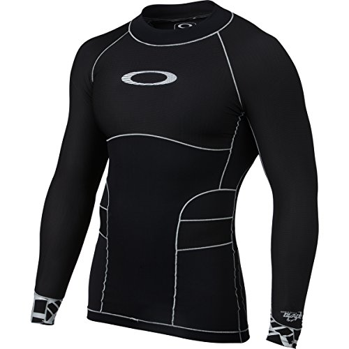 Oakley Men's Blade Compression Top Rashguard Wetsuit,Large,Jet Black (Rash Guard Oakley)