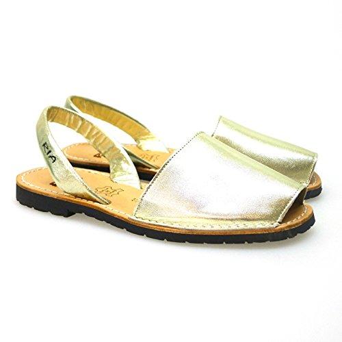 Ria Zapatos Mujer Menorquinas Avarcas 2002 Oro