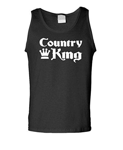 Gooder Tees - Country King - Mens Tank Top, XL, Black ()