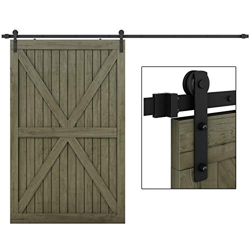 EaseLife 10 FT Heavy Duty Sliding Barn Door Hardware Track Kit-Ultra Hard Sturdy | Sliding Smooth Quiet | Easy Install | Fit 52''~60'' Wide Door | 10 FT Track Single Door Kit by EaseLife (Image #9)