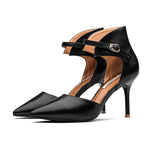 Hoxekle Vrouwen Sexy Hoge Hakken Stiletto Pumps Lente Mode Nieuw Element Schoenen Zwart