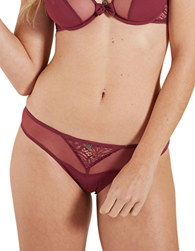 Lace Solid Colour Brief Panty Barbara Knickers Hibiscus Women's Red 229611 351 Cranberry 8wOYqZ8