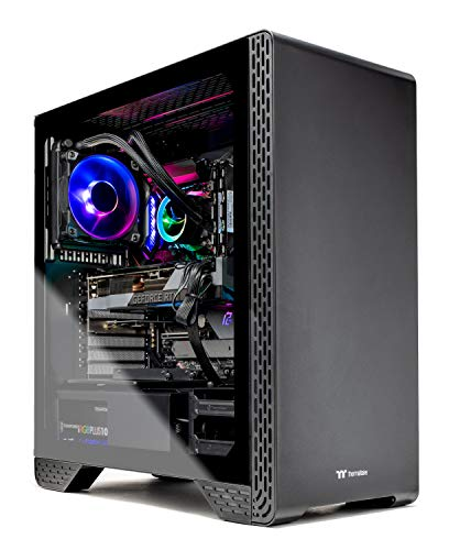 Skytech Siege 3.0 Gaming PC Desktop - Intel Core-i7 10700K 3.6GHz, RTX 3080 10GB, 16GB DDR4, 1TB NVME, 120mm AIO Liquid Cool, Z490 Motherboard, 750W PSU, Black