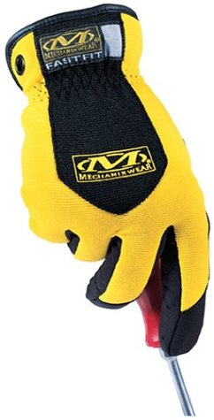 008 Fast Glove Fit (Fast Fit Glove by Mechanix - Yellow / Small)