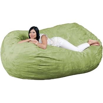 Amazon Com Fugu 7 Foot Bean Bag Chair Olive Kitchen