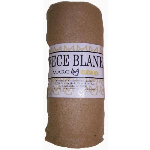 Imperial Home Marc Gold 50 x 60 Tan Fleece Blanket