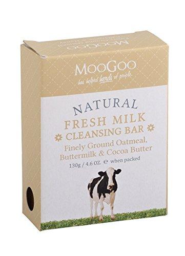 MooGoo Natural Fresh Milk Cleansing Bar - Finely Ground Oatmeal, Buttermilk & Cocoa Butter 4.6 oz (Best Eczema Cream Australia)