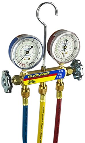 YELLOW JACKET 41712 Manifold for R410A, 2-1/2? Gauge (Protector Hose Gauge)