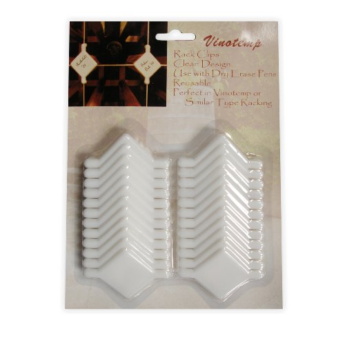 - Vinotemp VT-WINECLIPS Wine Rack Labeling Clips for Cellar Trellis Style Racking