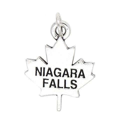 Sterling Silver Oxidized Niagara Falls Canada Charm