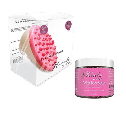 Anti Celulite SKINCARE BUNDLE with Arabica Coffee Body Scrub and Massager Brush (Anthony Logistics Body Kit)