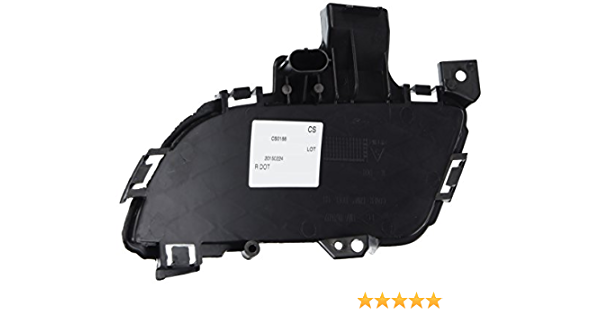 Partslink Number MA1038106 Sherman Replacement Part Compatible with MAZDA 3 Driver Side Front bumper insert