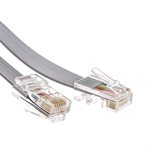 (GOWOS Telephone Cord (Data), RJ45, Silver Satin, Straight, 25 Feet)
