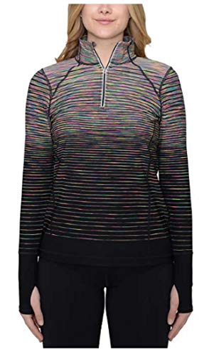 (Kirkland Signature Ladies' ¼ Zip Pullover, Rainbow, Size Large)