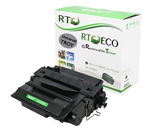 02-81601-001 HP CE255X 55X MICR Toner Cartridge High Yield 12.5k for Check Printing Compatible with TROY & HP LaserJet P3010 P3015 P3016 M521 M525 MFP Printers (Micr High Yield Laser)