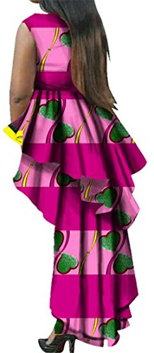 Floral Pink Dashiki Casual Ethnic Print Dresses Women's Style Cromoncent Irregular Sleeveless R7fwa