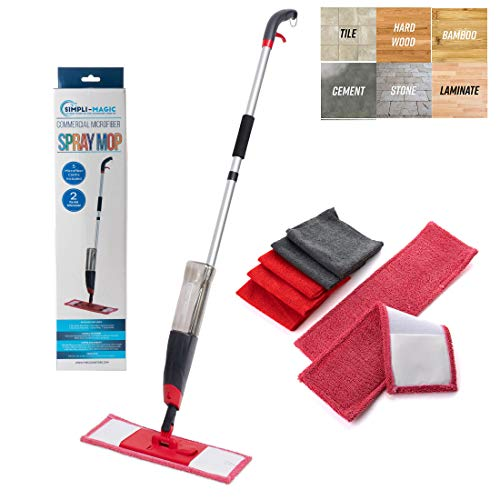 Simpli-Magic 79152 Spray Kit with 2 Mop Pads & 5 Free Microfiber Cleaning Cloths, Basic