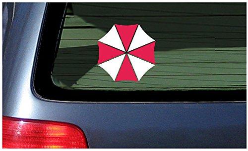 Corporation Vinyl - Umbrella Corporation - Vinyl Sticker Decal - Red and White Logo die Cut Window Laptop Tumbler (4inch)