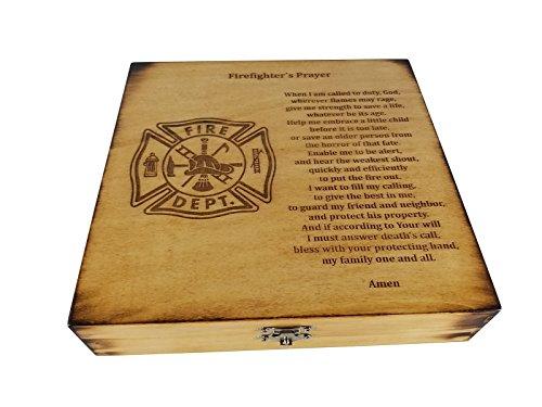 Firefighter Prayer Keepsake Box - Firefighter Graduation Gift